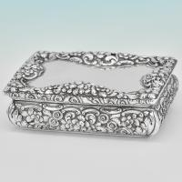 B6769: Antique Sterling Silver Snuff Boxes - Nathaniel Mills Hallmarked In 1838 Birmingham - Victorian - Image 1