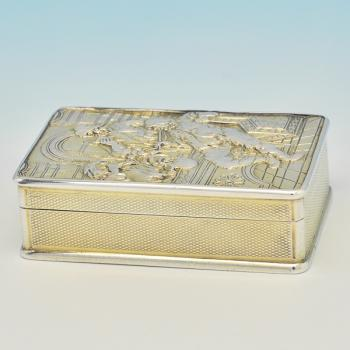 B7732: Antique Sterling Silver Snuff Boxes - Christopher Buckler Hallmarked In 1821 London - Georgian - Image 1