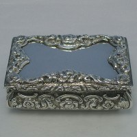 d1409: Antique Sterling Silver Snuff Boxes - Yapp & Woodward Hallmarked In 1845 Birmingham - Victorian - image 1