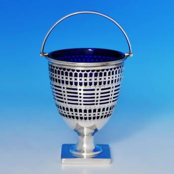 B0854: Antique Sterling Silver Sugar Basket - Henry Atkins Hallmarked In 1911 Sheffield - George V - Image 1