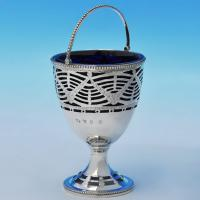B1934: Antique Sterling Silver Sugar Baskets - Hester Bateman Hallmarked In 1778 London - Georgian - Image 1