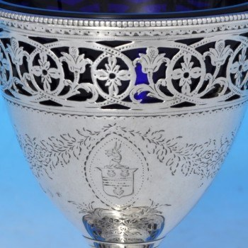 j9142: Antique Sterling Silver Sugar Basket - Hester Bateman Hallmarked In 1785 London - George III Georgian - image 2