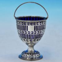 J9788: Antique Sterling Silver Sugar Basket - Hester Bateman Hallmarked In 1778 London - Georgian - Image 1