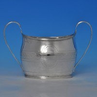 j8560: Antique Sterling Silver Sugar Bowl - Hallmarked In 1805 London - George III Georgian - image 1