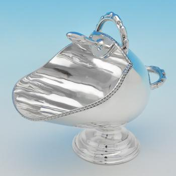 B6947:  Sterling Silver Sugar Scuttle - Henry Atkins Hallmarked In 1953 Sheffield - Elizabeth II - Image 1