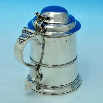 B1733: Antique Sterling Silver Tankards - Richard Bayley Hallmarked In 1733 London - Georgian - Image 1