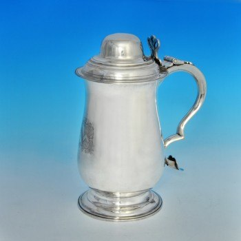 j6297: Antique Sterling Silver Tankard - Hester Bateman Hallmarked In 1790 London - George III Georgian - image 1