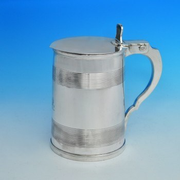 j6532: Antique Sterling Silver Tankard - Robert Garrad Hallmarked In 1805 London - George III Georgian - image 1