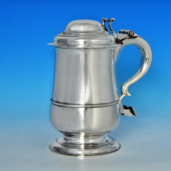 j6652: Antique Sterling Silver Tankard - David Crawford Hallmarked In 1772 Newcastle - George III Georgian - image 1