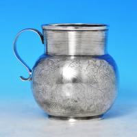 J8865: Antique Sterling Silver Tankard - George Garthorne Hallmarked In 1683 London - Charles II - Image 1
