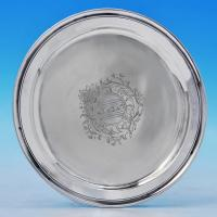 B1912: Antique Sterling Silver Tazza - Paul De Lamerie Hallmarked In 1745 London - Georgian - Image 1