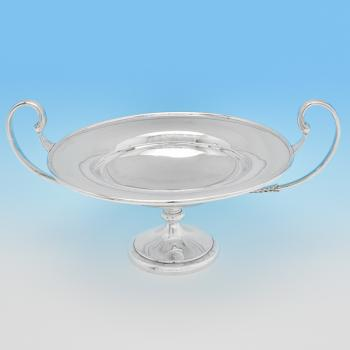 B7865: Antique Sterling Silver Tazza - Holland, Aldwinckle & Slater Hallmarked In 1905 London - Edwardian - Image 1