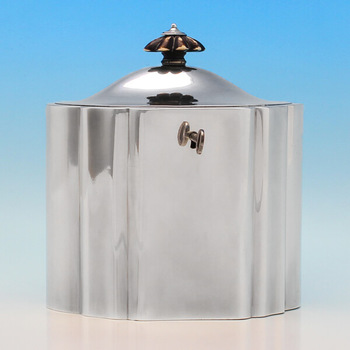 B2869: Antique Sterling Silver Tea Caddy - Henry Chawner Hallmarked In 1795 London - Georgian - Image 1