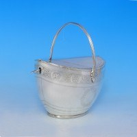 e8976: Antique Sterling Silver Tea Caddy - John Emes Hallmarked In 1801 - George III Georgian - image 4