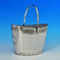 j6733: Antique Sterling Silver Tea Caddy - John Emes Hallmarked In 1798 London - George III Georgian - image 1