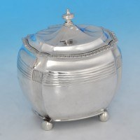 j9855: Antique Sterling Silver Tea Caddy - C. S. Harris Hallmarked In 1895 London - Victorian - image 1