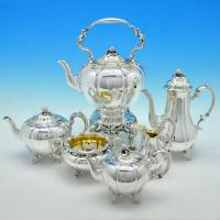 B1682: Antique Sterling Silver Six Piece Tea Sets - Barnard Brothers Hallmarked In 1840 London - Victorian - Image 1