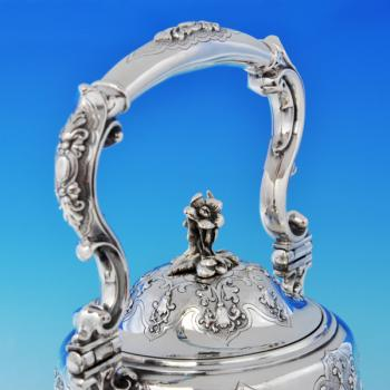 B2135: Antique Silver Plate Five Piece Tea Set - Robert Hennell II Hallmarked In 1856 London - Victorian - Image 2