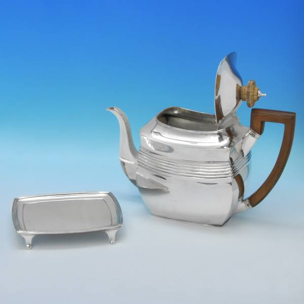 B3145: Antique Sterling Silver Four Piece Tea Set - A. & G. Burrows Hallmarked In 1807 London - Georgian - Image 2