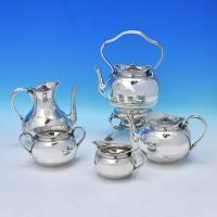 B3449: Antique Sterling Silver Tea Sets - George Fox Hallmarked In 1870 London - Victorian - Image 1