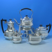 d4n21: Antique Sterling Silver Tea Set - Fordham & Faulkner Hallmarked In 1905 Sheffield - Edwardian - image 1