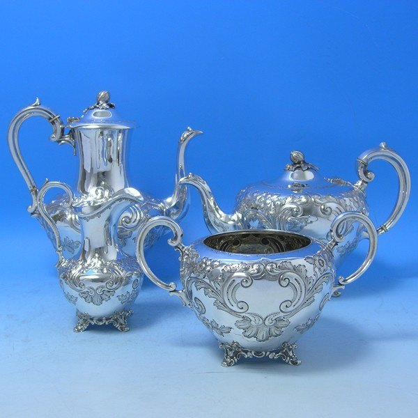 d4n22: Античная серебряное блюдо Чайный сервиз - Мартин Холл & Ко Около 1885 - викторианской - изображение 1