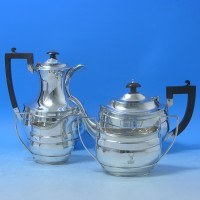 e5034: Sterling Silver Tea Set - S. Blanckensee & Sons Hallmarked In 1920 Birmingham - George V  - image 1