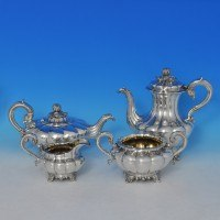 n0000: Antique Sterling Silver Four Piece Teaset - Barnard Brothers Hallmarked In 1834 London - William IV  - image 1