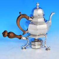 B0378: Antique Britannia Standard Silver Teapot On Warmer - William Penstone III Hallmarked In 1712 London - Queen Anne - Image