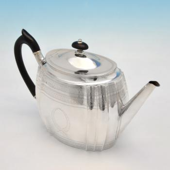 B1335: Antique Sterling Silver Teapots - Edward Hutton Hallmarked In 1885 London - Victorian - Image 1