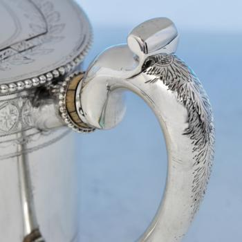 B2195: Antique Sterling Silver Teapot - Andrew Crespell Hallmarked In 1861 London - Victorian - Image 2
