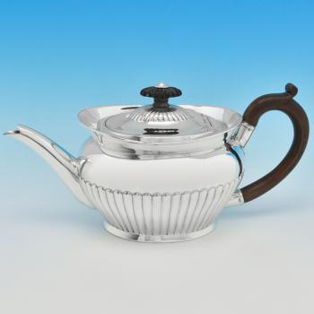 B2726: Antique Sterling Silver Teapot - Unknown Hallmarked In 1887 London - Victorian - Image 1