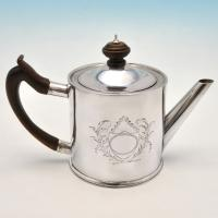 B4450: Antique Sterling Silver Teapots - Walter Brind Hallmarked In 1773 London - Georgian - Image 2