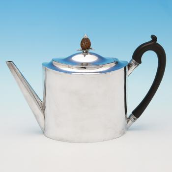 B4509: Antique Sterling Silver Teapot - Henry Chawner Hallmarked In 1794 London - Georgian - Image 1