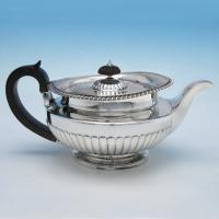 B4806: Antique Sterling Silver Teapot - Thomas Burwash Hallmarked In 1822 London - Georgian - Image 1