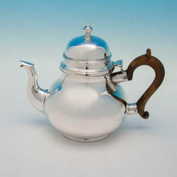 B5598: Antique Sterling Silver Teapots - Wakely & Wheeler Hallmarked In 1907 London - Edwardian - Image 1