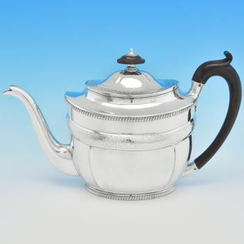 B6339: Antique Sterling Silver Teapot - Daniel Pontifex Hallmarked In 1802 London - Georgian - Image 1