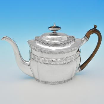 B7428: Antique Sterling Silver Teapots - Solomon Hougham Hallmarked In 1801 London - Georgian - Image 1