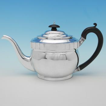 B9050: Antique Sterling Silver Teapots - Solomon Hougham Hallmarked In 1803 London - Georgian - Image 1