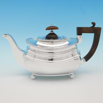 B9260:  Sterling Silver Teapots - S. Blanckensee & Sons Hallmarked In 1933 Chester - George V - Image 1