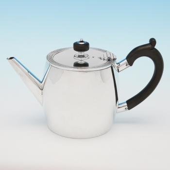 B9953: Antique Sterling Silver Teapot - Heath & Middleton Hallmarked In 1886 London - Victorian - Image 1