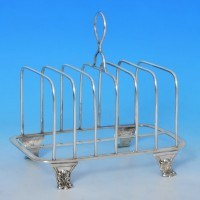 b0033: Antique Sterling Silver Toast Rack - Thomas Blagden & Co. Hallmarked In 1816 Sheffield - George III Georgian - image 1