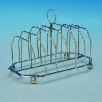 B0706: Antique Sterling Silver Toast Rack - Solomon Hougham Hallmarked In 1807 London - Georgian - Image 1