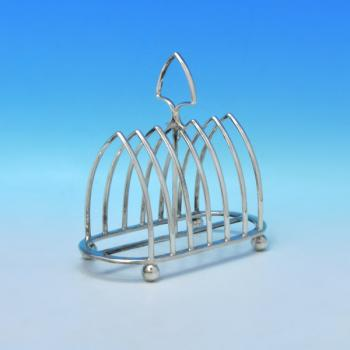 B3149:  Sterling Silver Toast Racks - Cooper Brothers & Sons Hallmarked In 1937 Sheffield - George VI - Image 1