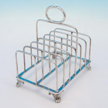 B5540: Antique Sterling Silver Toast Rack - Joseph Angell Hallmarked In 1825 London - Georgian - Image 1