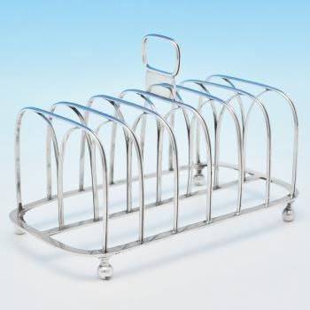 B6904: Antique Sterling Silver Toast Racks - Joseph Biggs Hallmarked In 1816 London - Georgian - Image 1