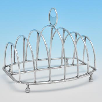 B7787: Antique Sterling Silver Toast Rack - Mary Troby Hallmarked In 1809 London - Georgian - Image 1