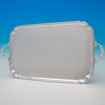 B6349:  Sterling Silver Tray - Roberts & Belk Hallmarked In 1944 Sheffield - George VI - Image 1