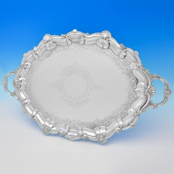 B7838: Antique Silver Plate Trays - Henry Atkins Made Circa 1880 Unknown - Victorian - Image 1