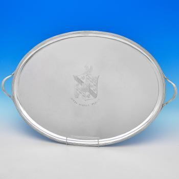 B8989: Antique Sterling Silver Trays - John Scofield Hallmarked In 1794 London - Georgian - Image 1